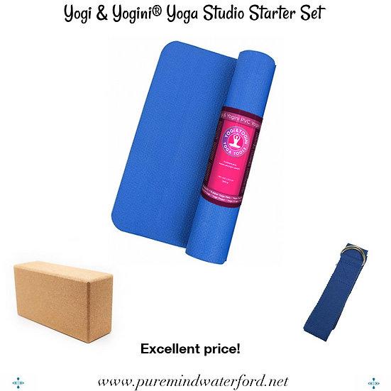 Yogi & Yogini® Yoga Studio Starter Set - blue