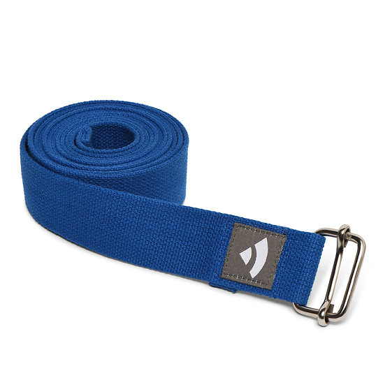 Yoga strap Bodhi with metal sliding buckle blue