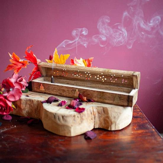 Incense Burner and Storage Box Buddha