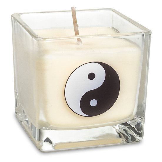 Eco Rapeseed wax scented candle Yin Yang