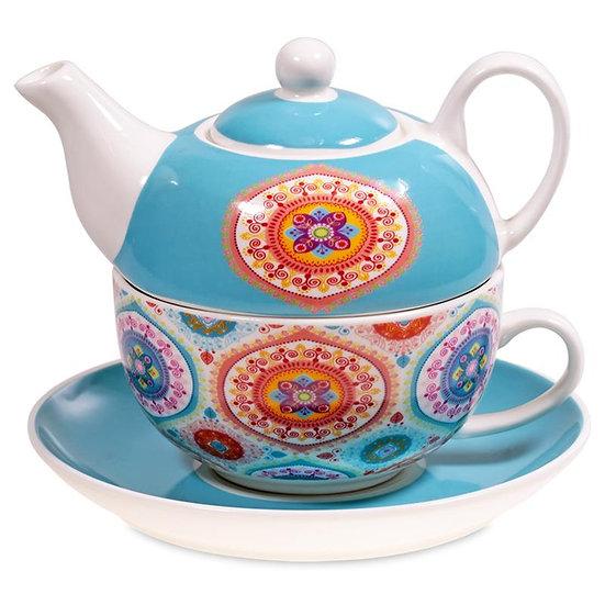 Tea for One Mandala blue