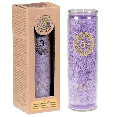 Aromatic Candle 7th Chakra with essential oils