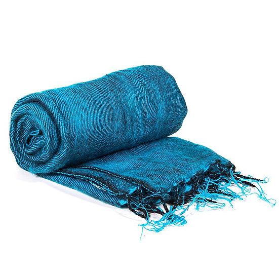 Meditation Pashmina aqua blue
