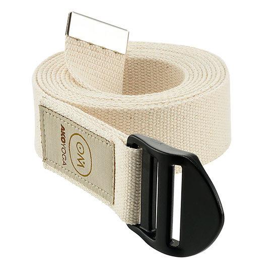 Yoga Belt OM - Natural White