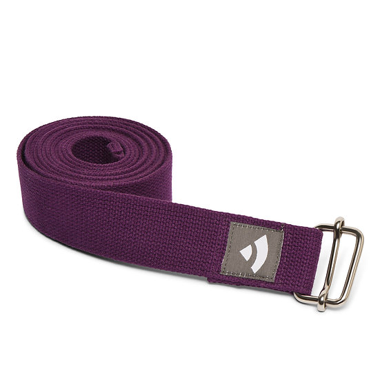 Yoga strap Bodhi with metal sliding buckle purple