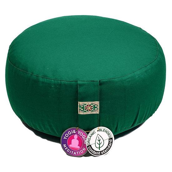 Meditation cushion greenorganic cotton