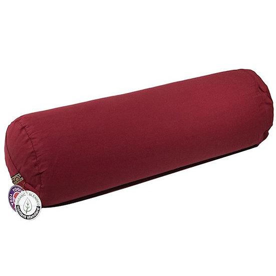 Yoga Bolster round burgundy organic cotton
