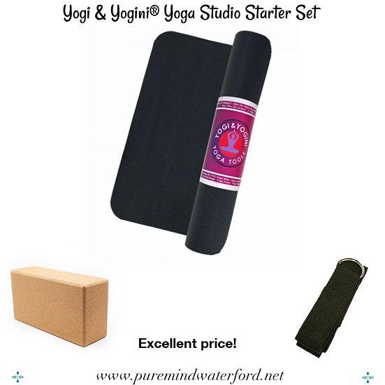 Yogi & Yogini® Yoga Studio Starter Set Black