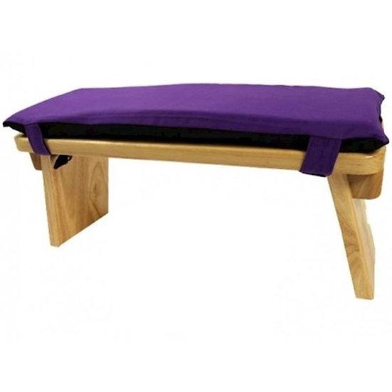 Meditation Bench & Cushion ''Seiza'' Set - Violet