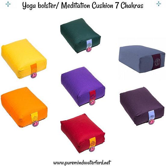 Chakra Yoga Bolster/Meditation Cushion