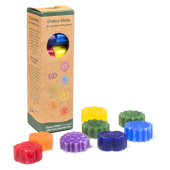 Chakra melts scented wax for oil burners