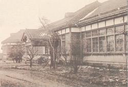 白河高校(新旧玄関) 加工完成