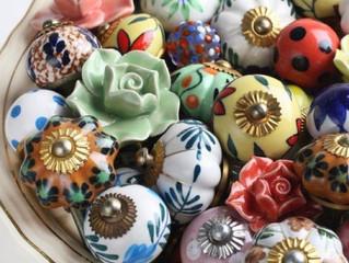 Puxadores em porcelana ou cerâmica, a festa das cores!!
