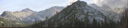 "Jarvela-Big Black Mountain- acrylic on canvas  20 1/2 x 74"""