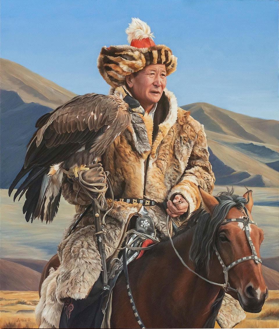 """Von Grone-Eagle Hunter I, 38 x 32"""""""