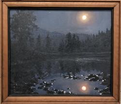 "Jarvela-Midnight Moon, acrylic on canvas, 17 x 20"""