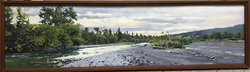 "Jarvela-Western Skies- acrylic on canvas 17 1/2 x 62"""