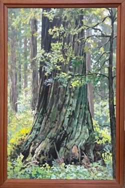 "Jarvela-Elephant Feet - acrylic on panel, 51 x 34"" framed."