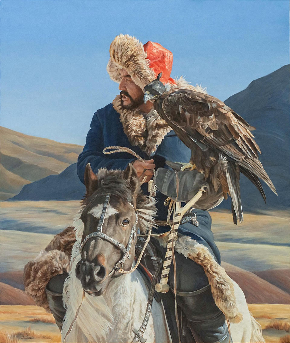 """Von Grone-Eagle Hunter III, 38 x 32"""""""