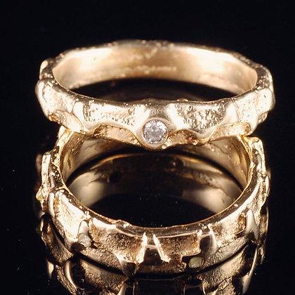 Alianças Relevos Diamantes