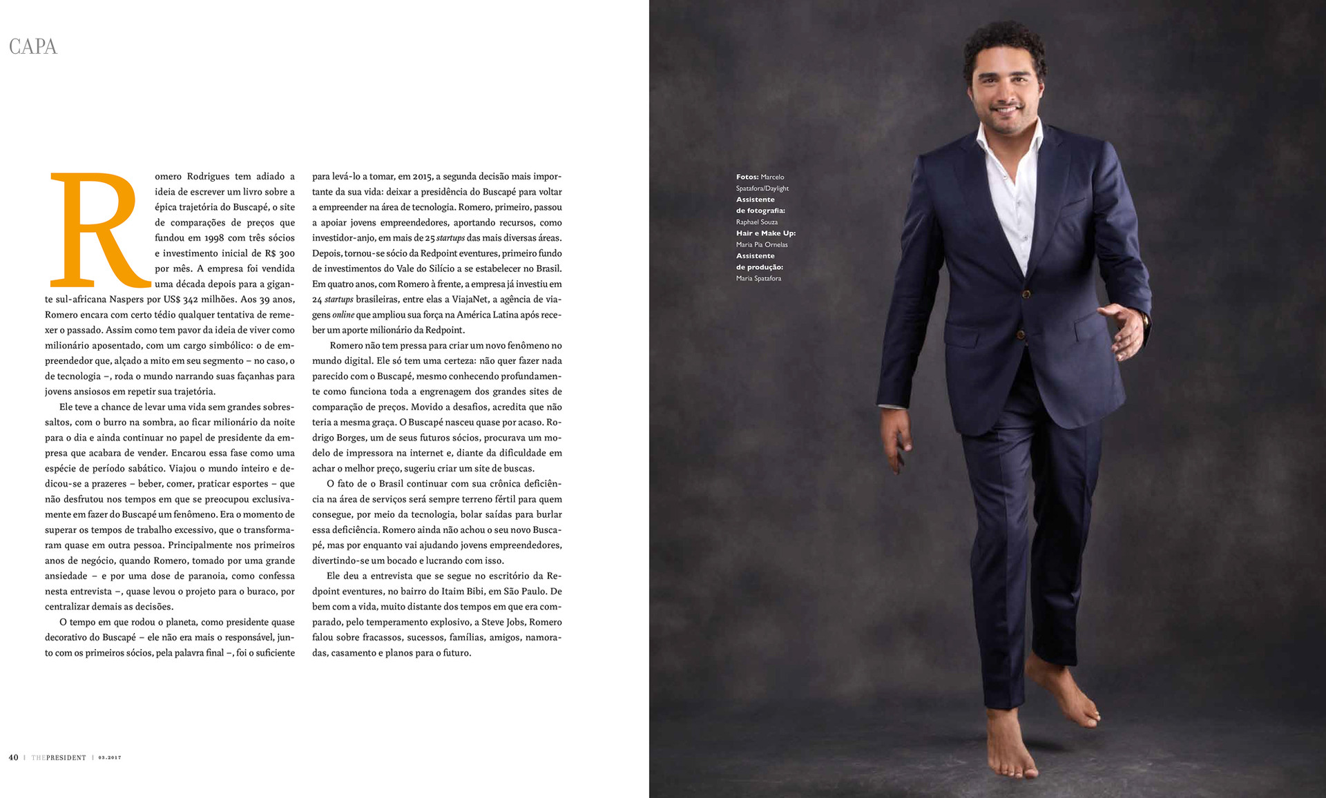 Editorial portrait for The President magazine