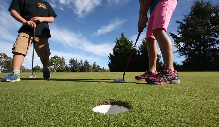 Events and golf coaching for kids parents family