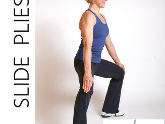 Lower body workout: Plie slides