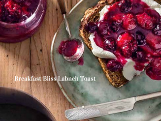 Breakfast Bliss Labneh Toast