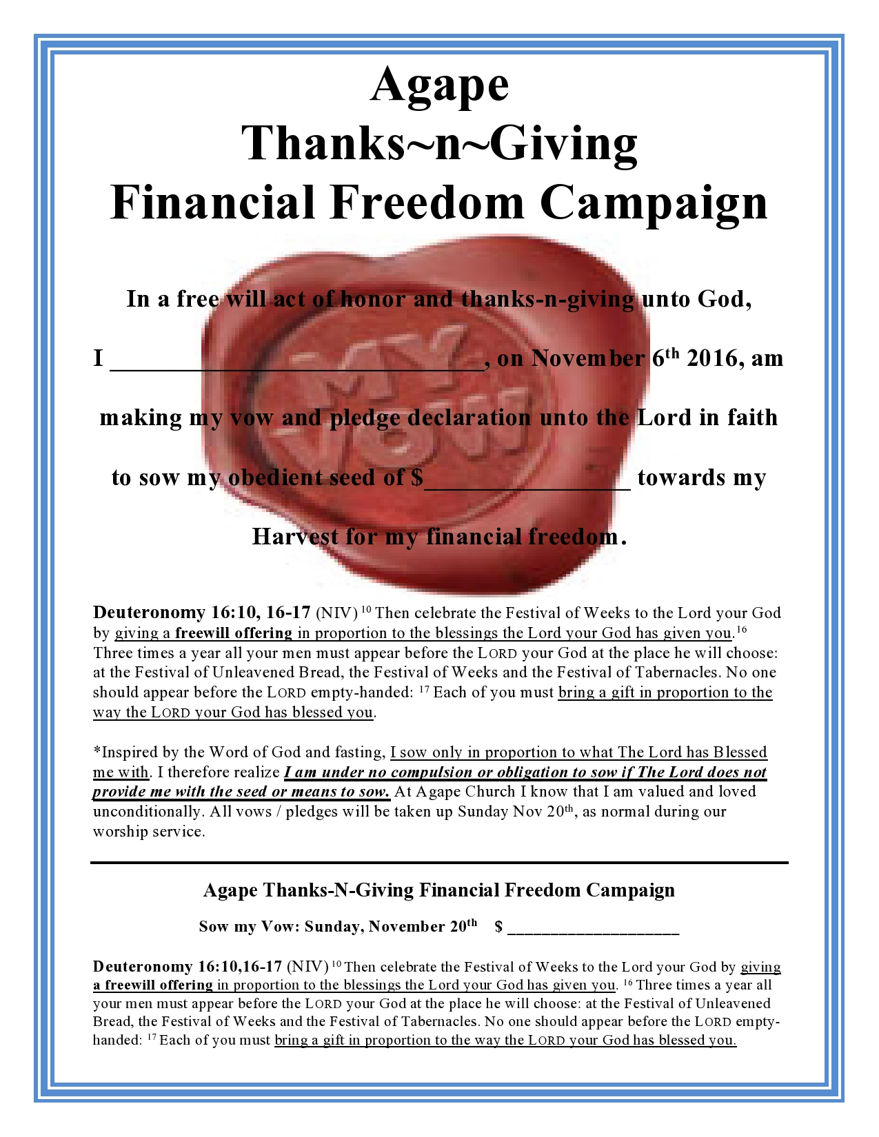 Thanks-n-Giving2016 Pledge Card Online