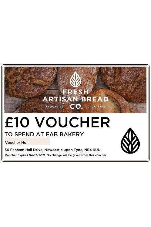 FAB Bakery £10 Gift Voucher