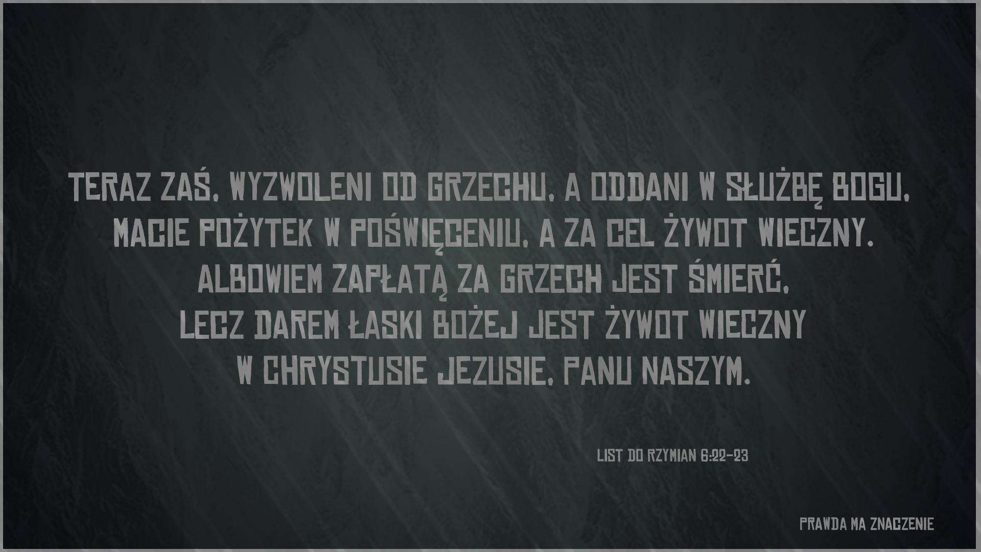 RZYMIAN 6 22 23