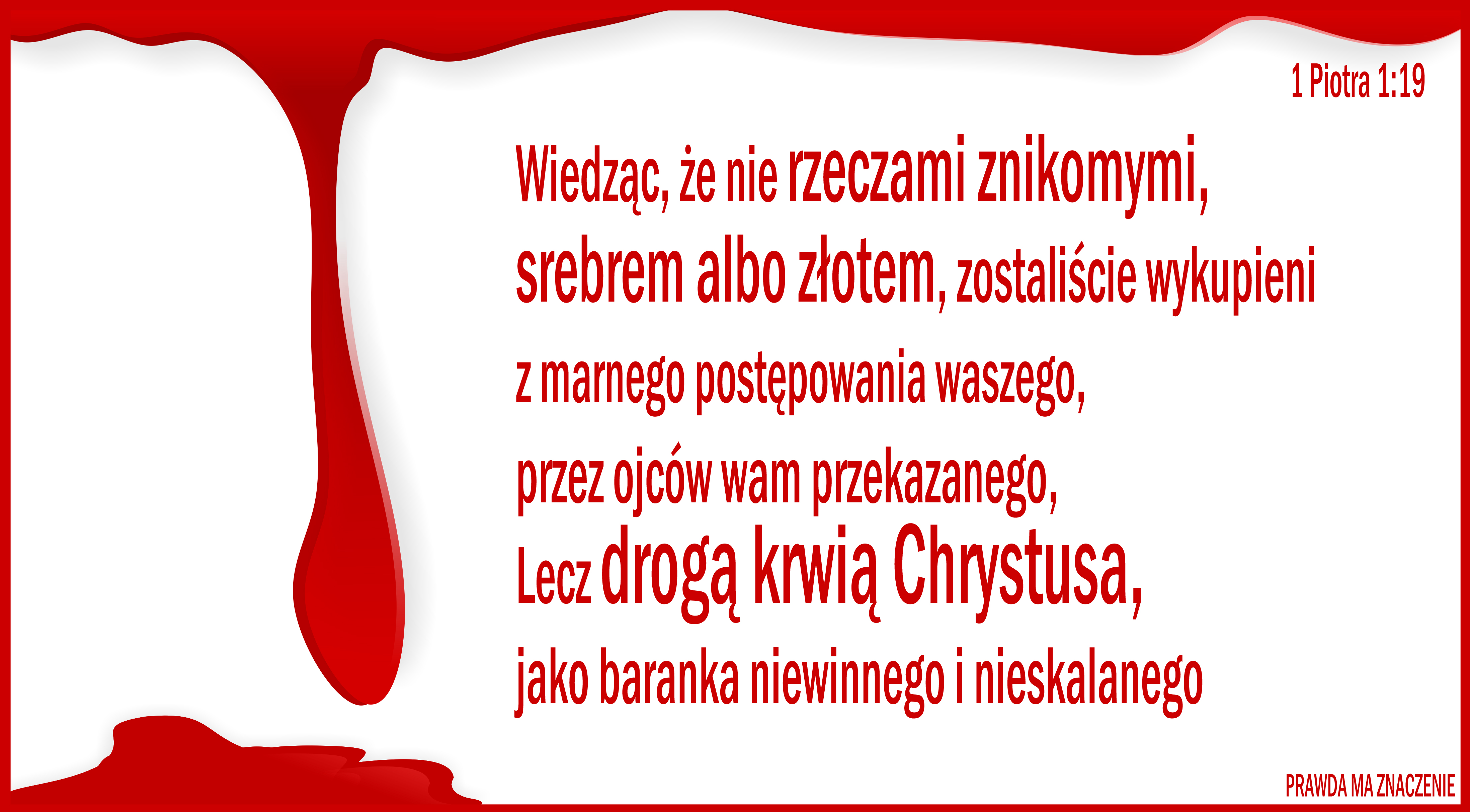 1 Piotra 1 19 2