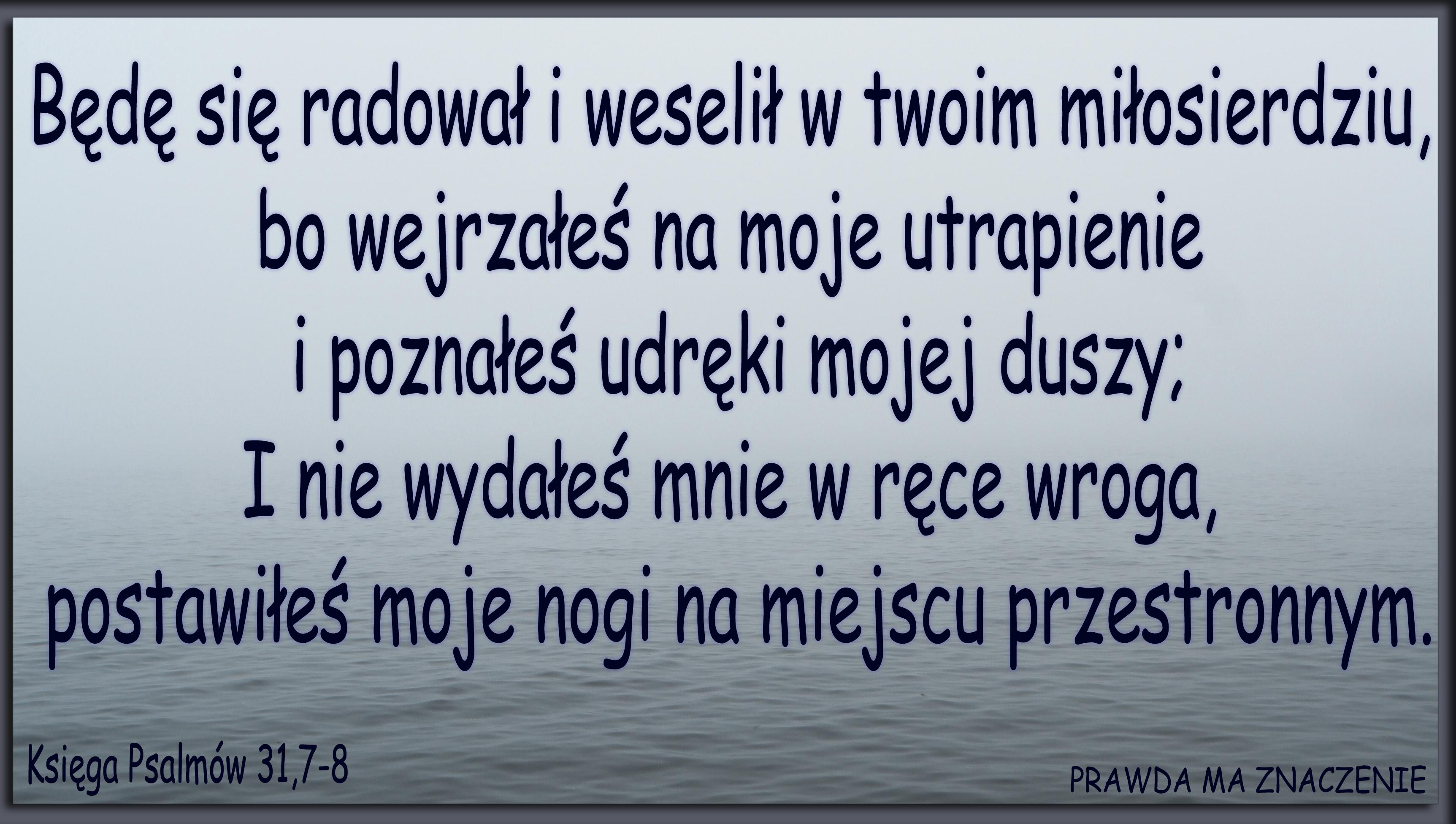 Księga Psalmów 31,7