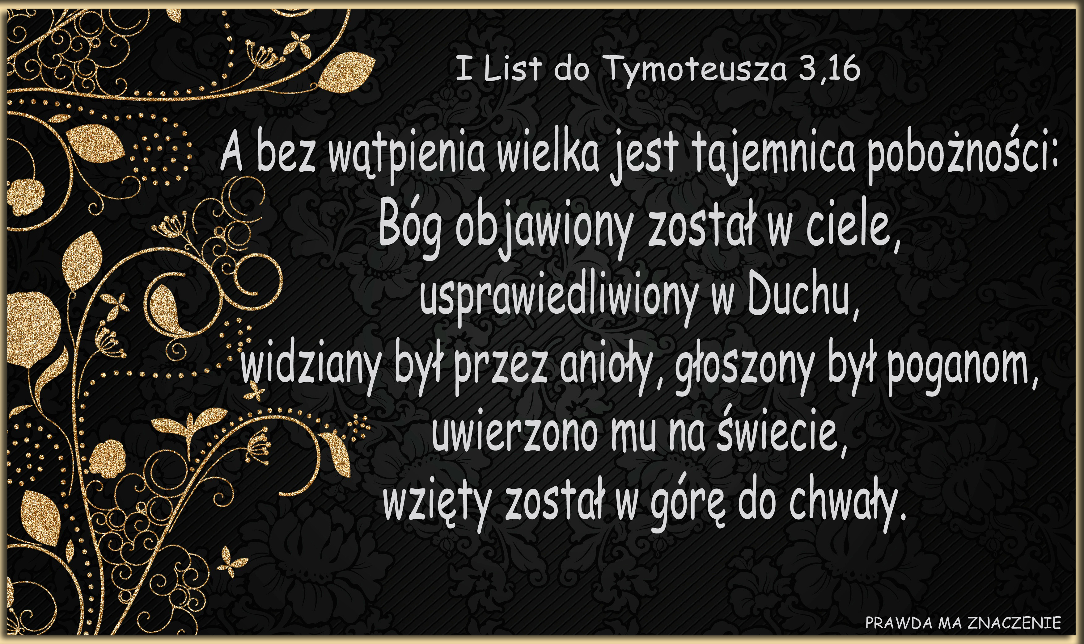 I List do Tymoteusza 3 16