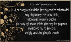 I List do Tymoteusza 3 16