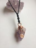 Amethyst crystal talisman
