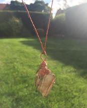 Labradorite crystal talisman