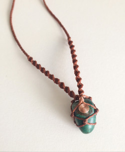 Chrysocolla crystal talisman