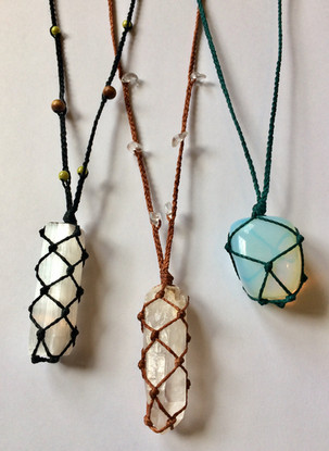 Handcrafted crystal talismans