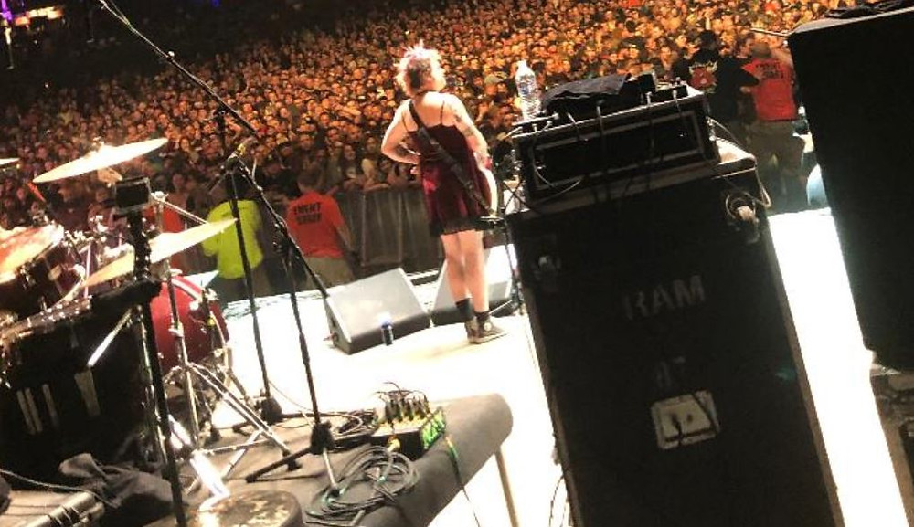 Laura's view from backstage at NOFX