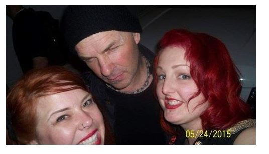 Tim Armstrong with Jodie & Shawna