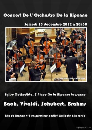 Flyer des débuts de l'orchestre Amati