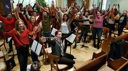 L'orchestre Amati avec la chanteuse Phan