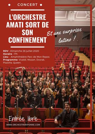 L'orchestre AMATI sort de son confinemen