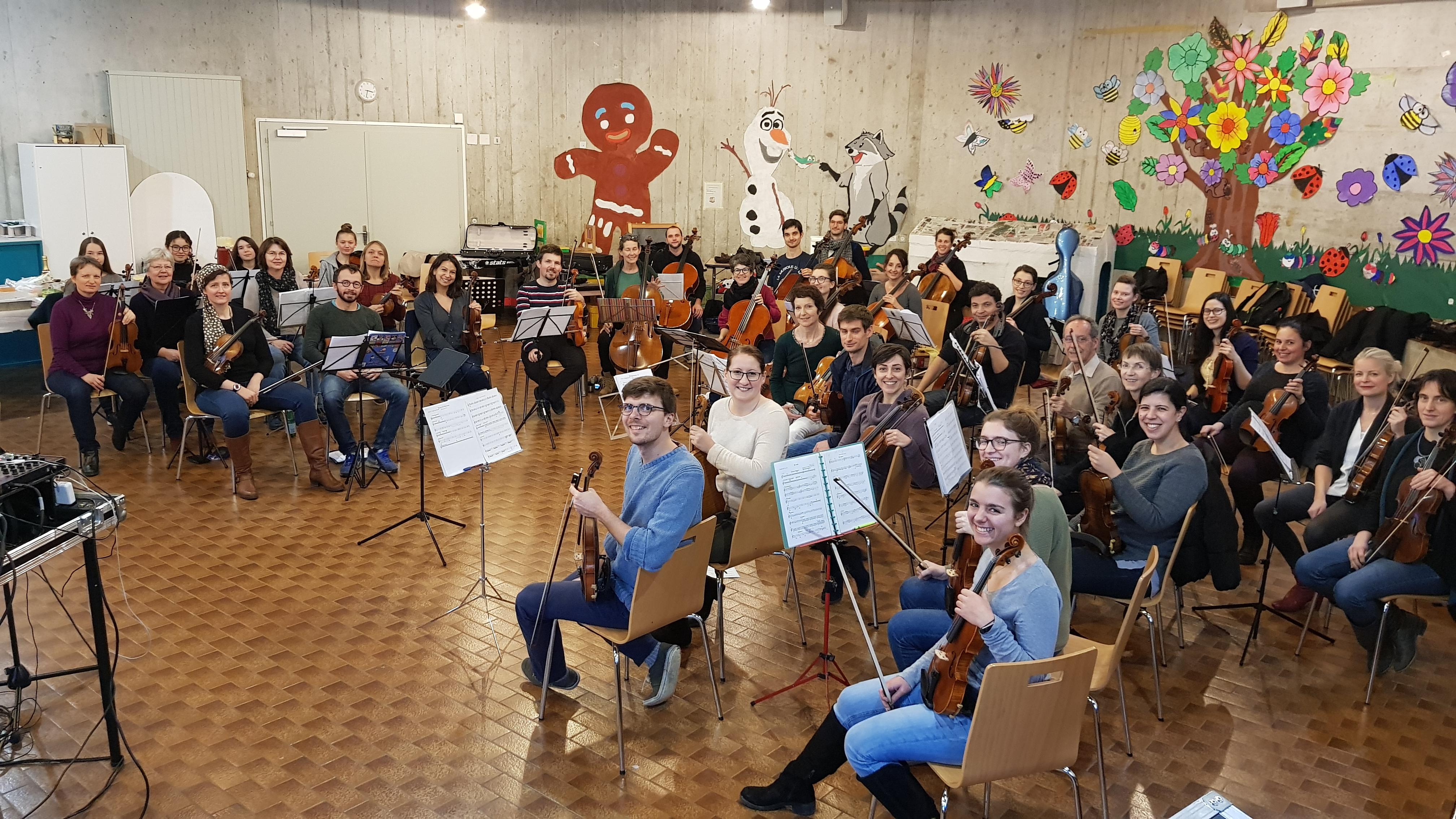 L'orchestre Amati se prépare pour Phanee