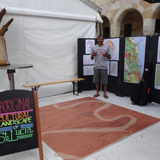 Printed map at the UQ RAP event