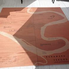 Close up of printed map