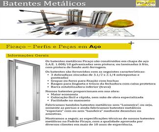 Batentes Metálicos - Catálogo
