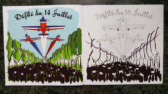 French Air Force Aerobatic Patrol Coloring Book