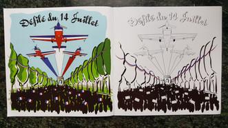 Cahier Coloriage Patrouille de Voltige Armée de l'Air
